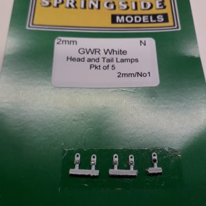 N gauge GWR White Lamps