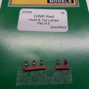 N gauge GWR RED Lamps