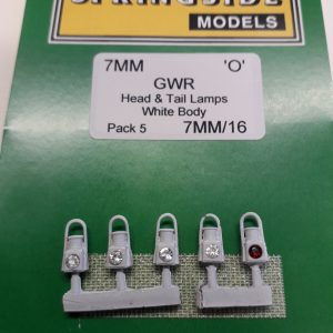 O gauge White GWR Lamps