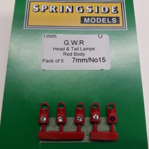 O gauge Red GWR Lamps